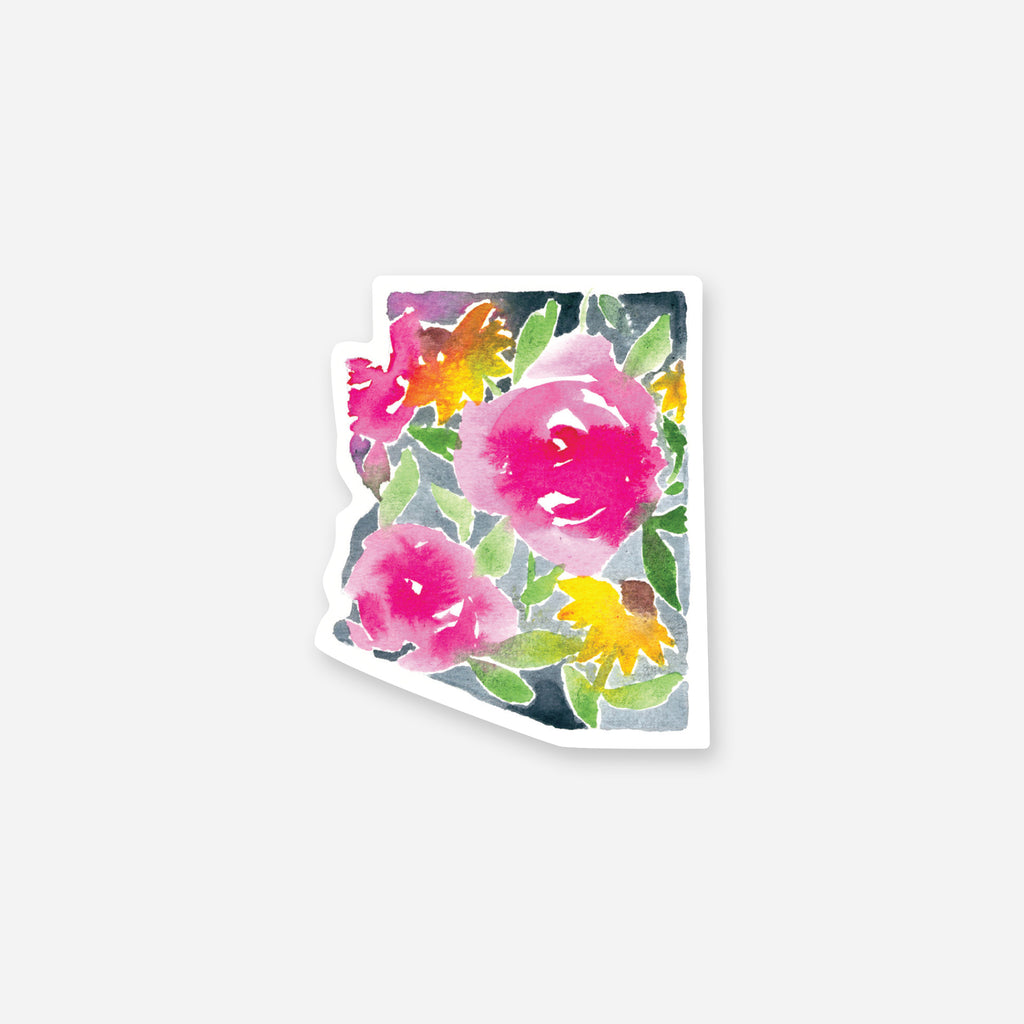 Arizona Bright Flowers Vinyl Sticker