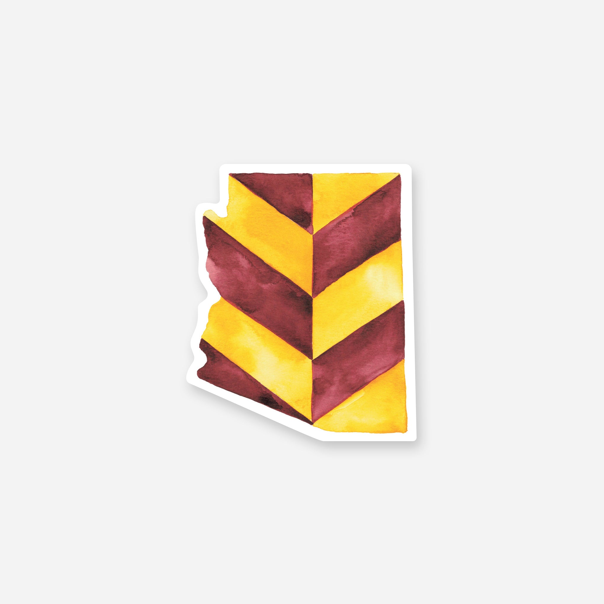 Arizona Chevrons Vinyl Sticker – ASU Colors