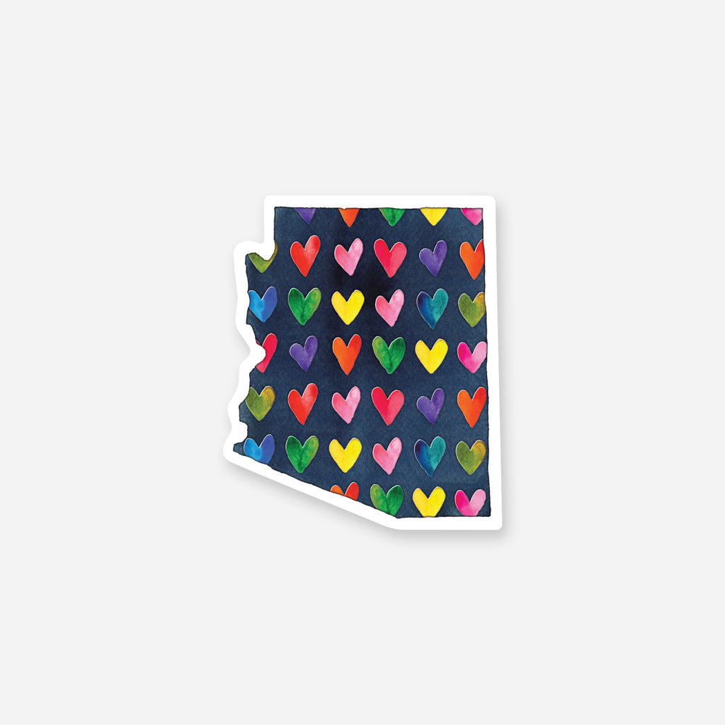 Arizona Hearts Vinyl Sticker