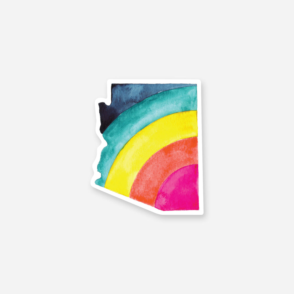 Arizona Rainbow Vinyl Sticker
