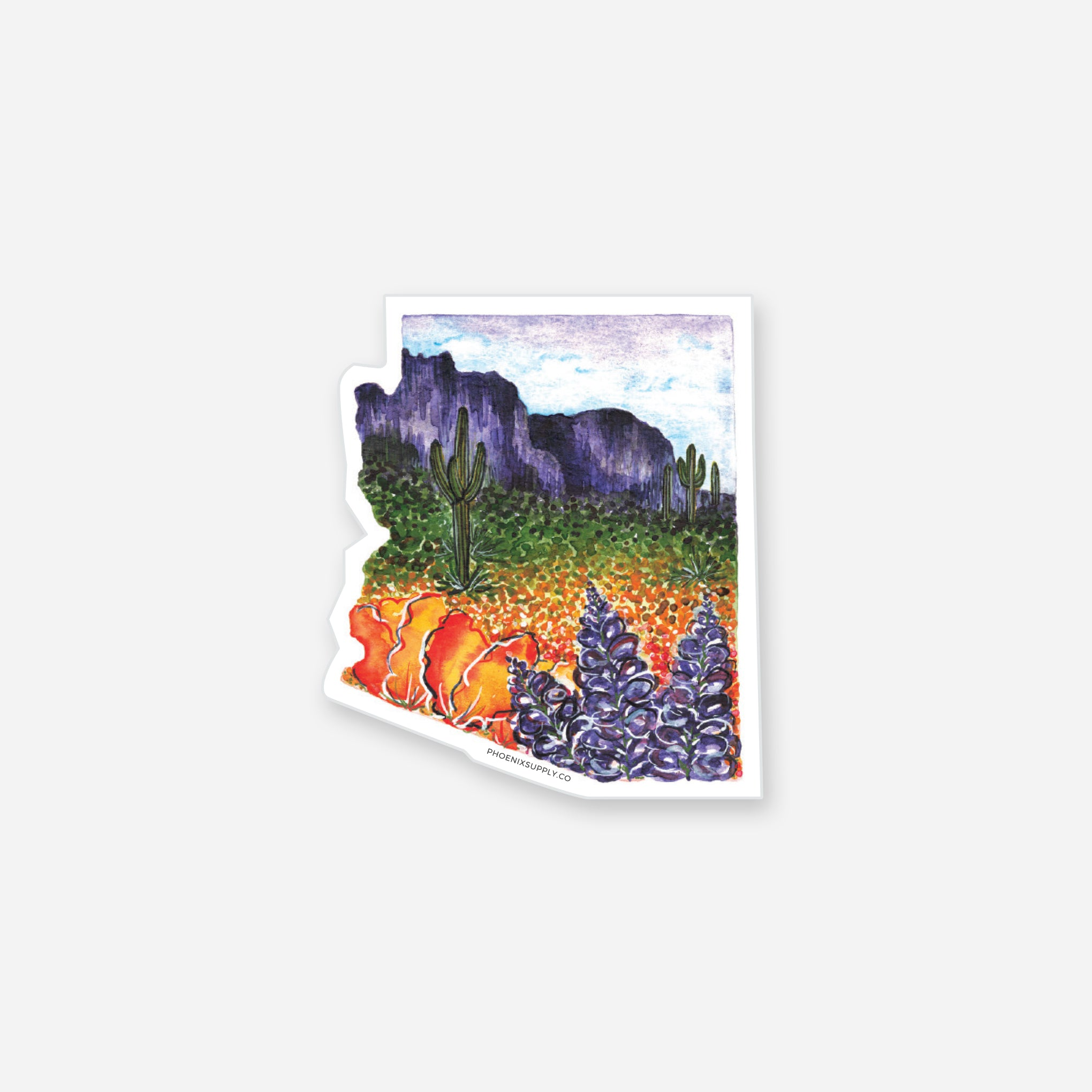 Arizona Superbloom Vinyl Sticker