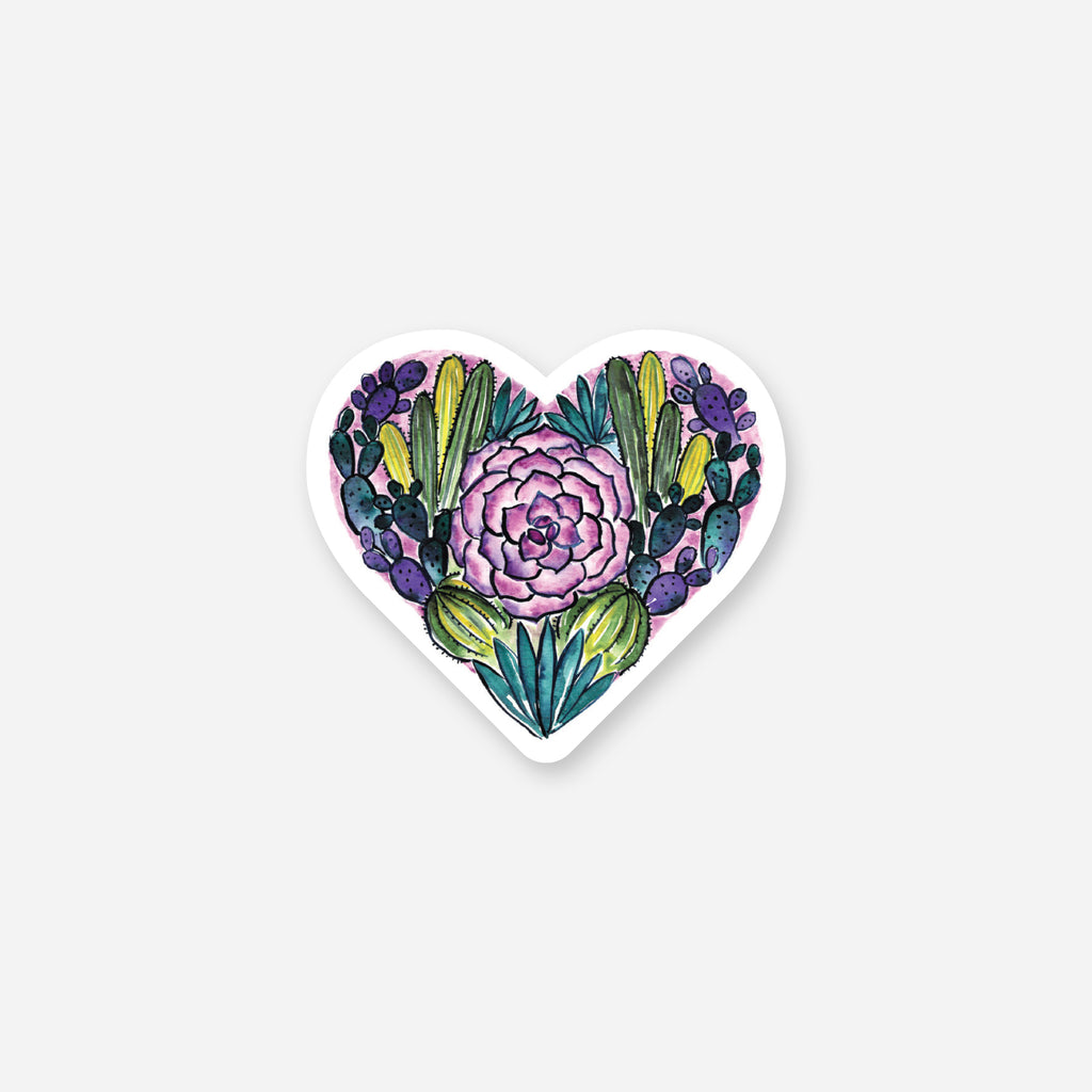 Desert Heart Vinyl Sticker