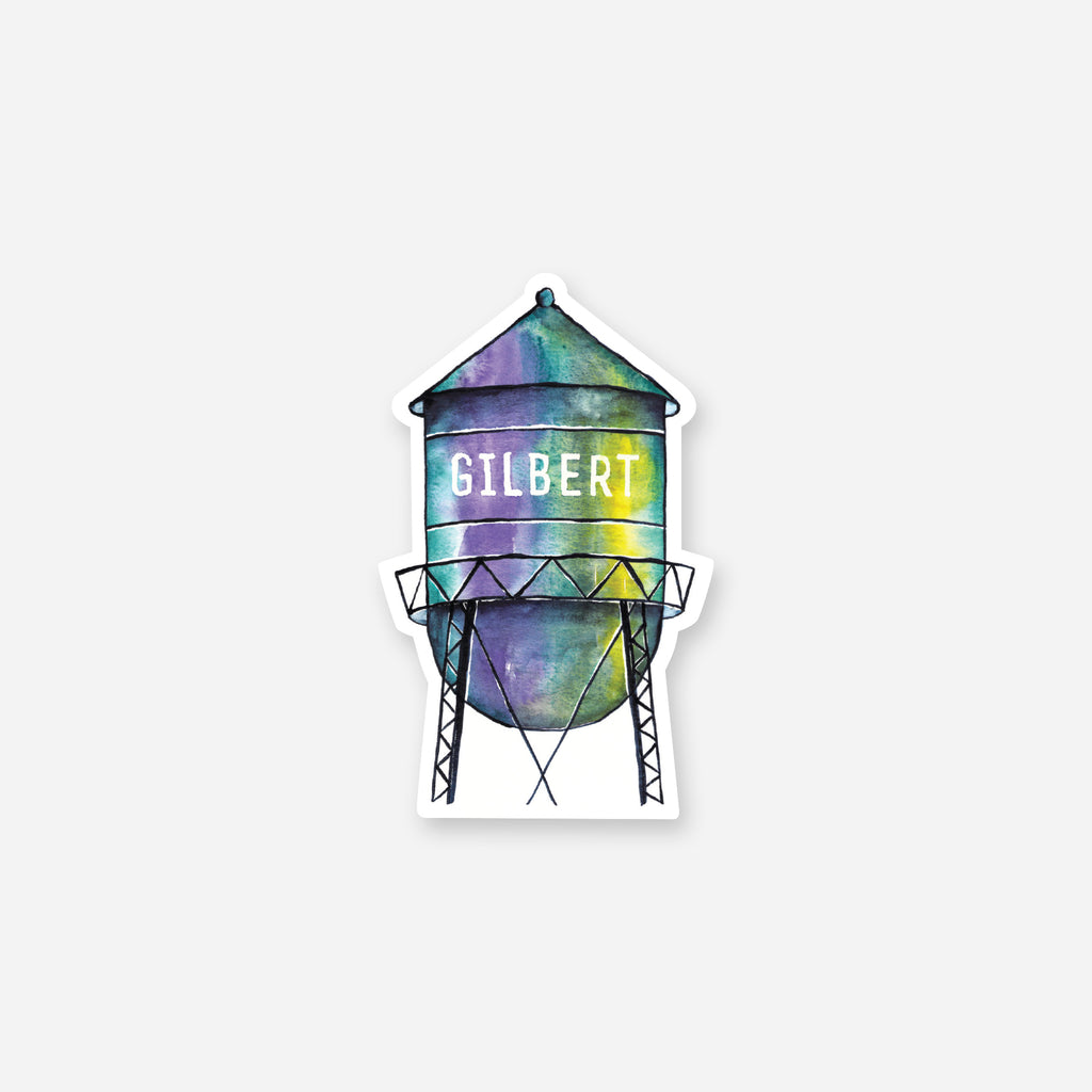Gilbert Watertower Vinyl Sticker