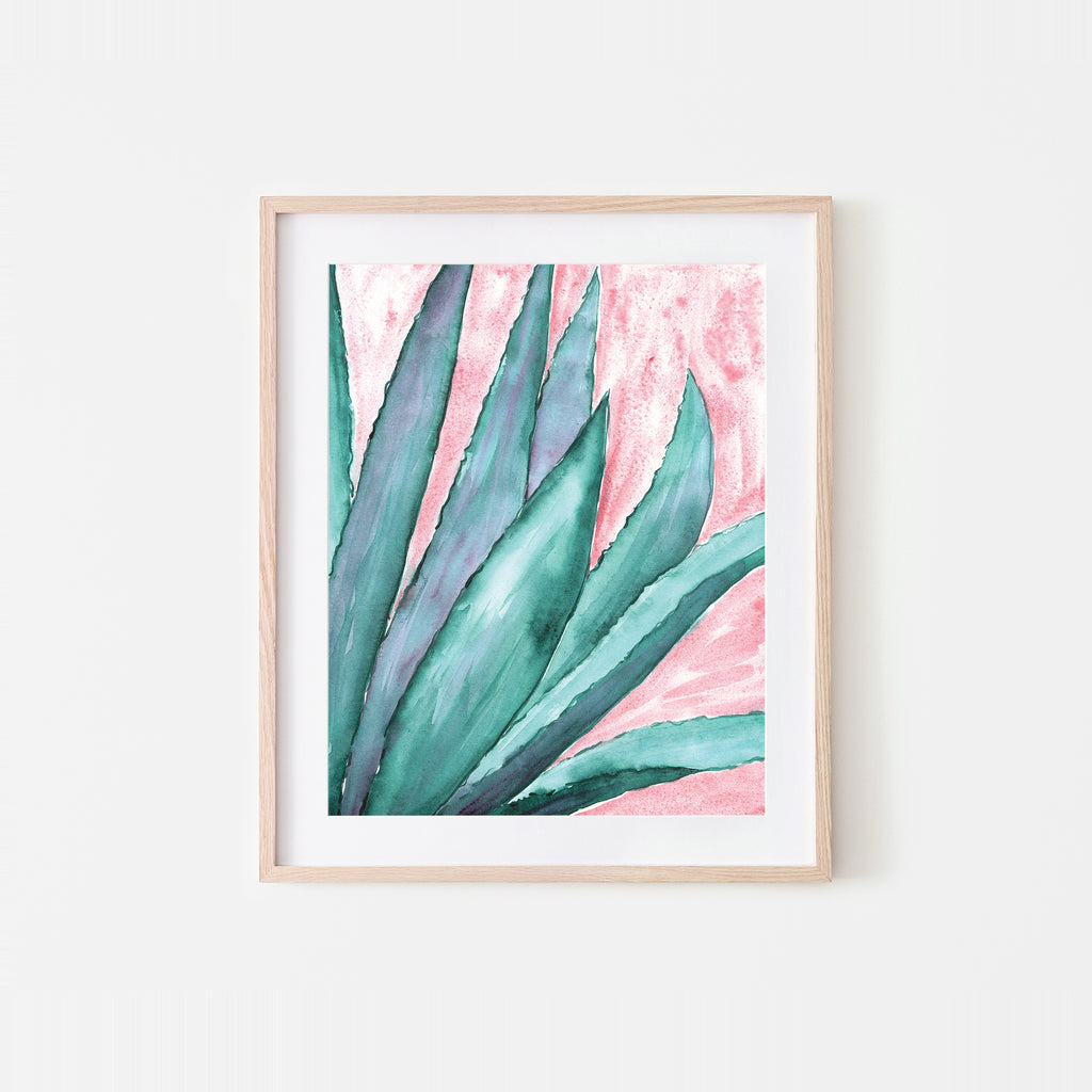 Agave Dream Watercolor Art Print