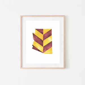 Arizona Chevrons Watercolor Art Print – ASU Colors