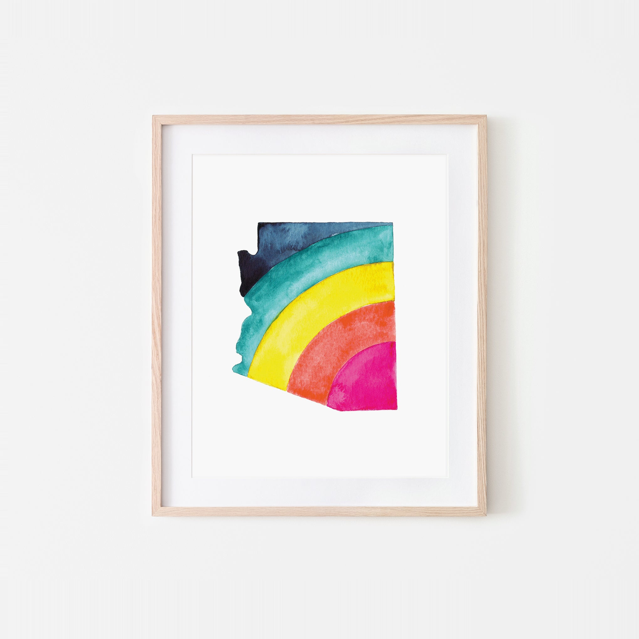 Arizona Rainbow Watercolor Art Print