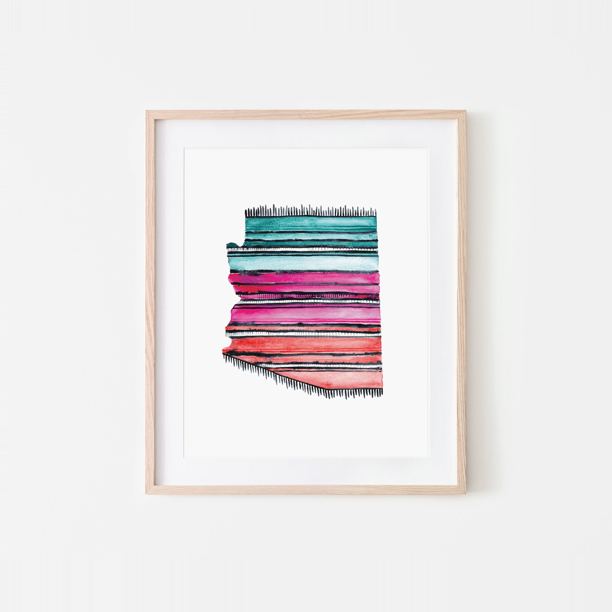 Arizona Serape Watercolor Art Print