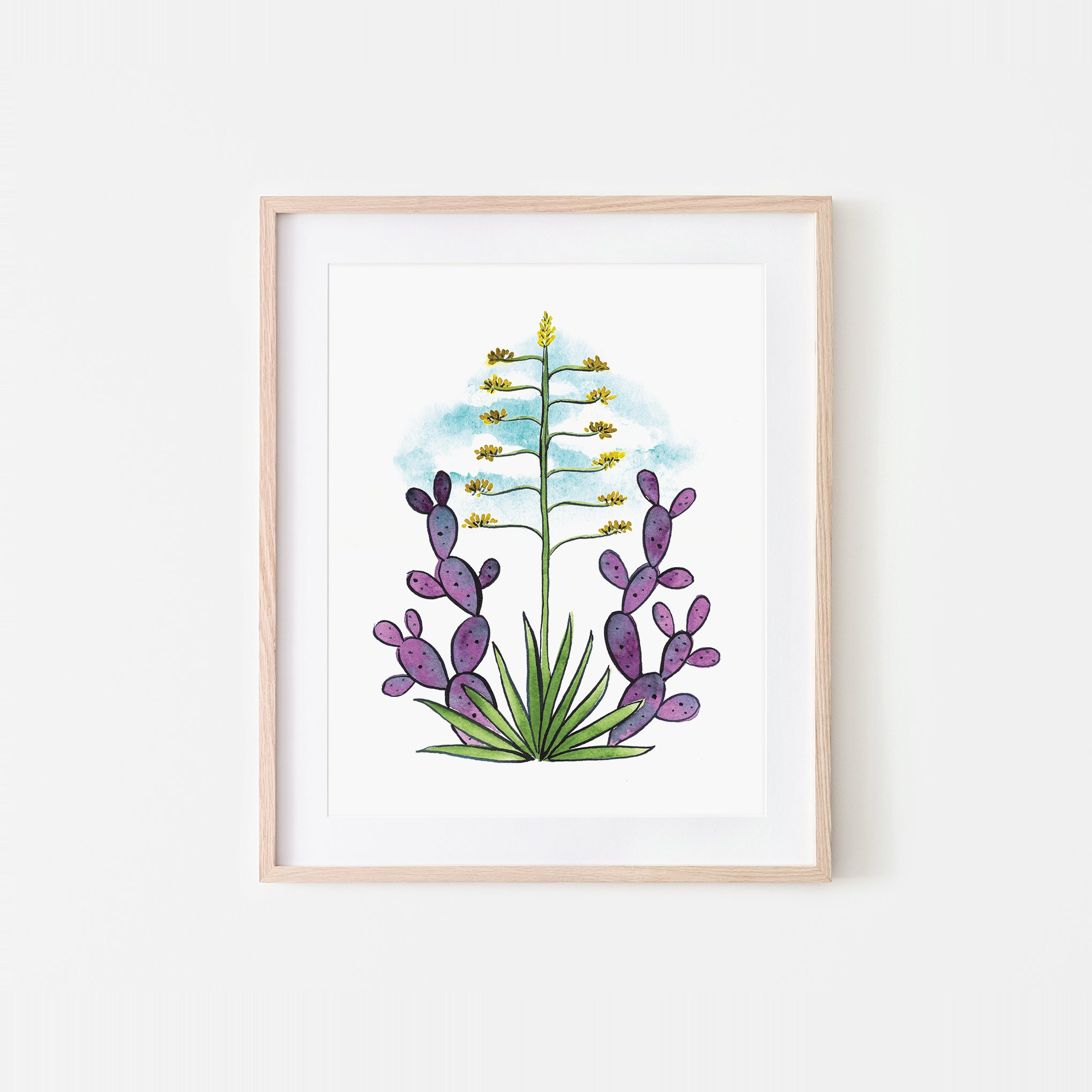 Desert Dweller Watercolor Art Print