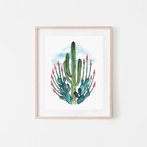 Desert Queen Watercolor Art Print