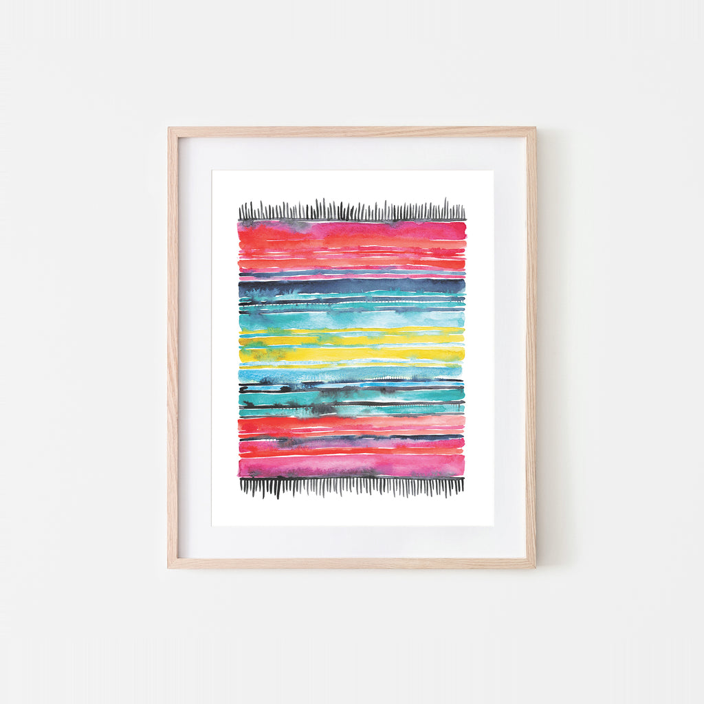 Serape I Watercolor Art Print