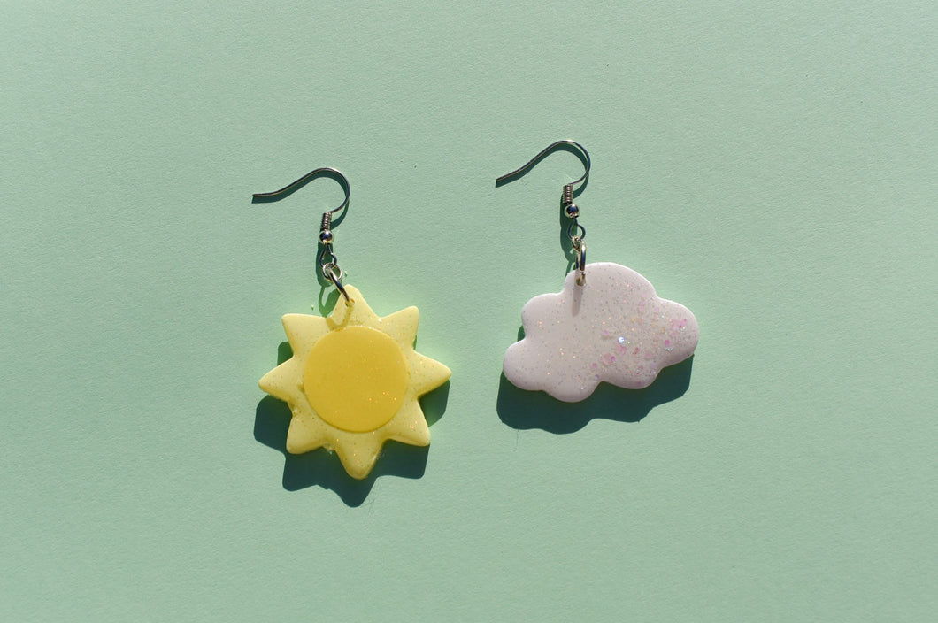sun and cloud dangles