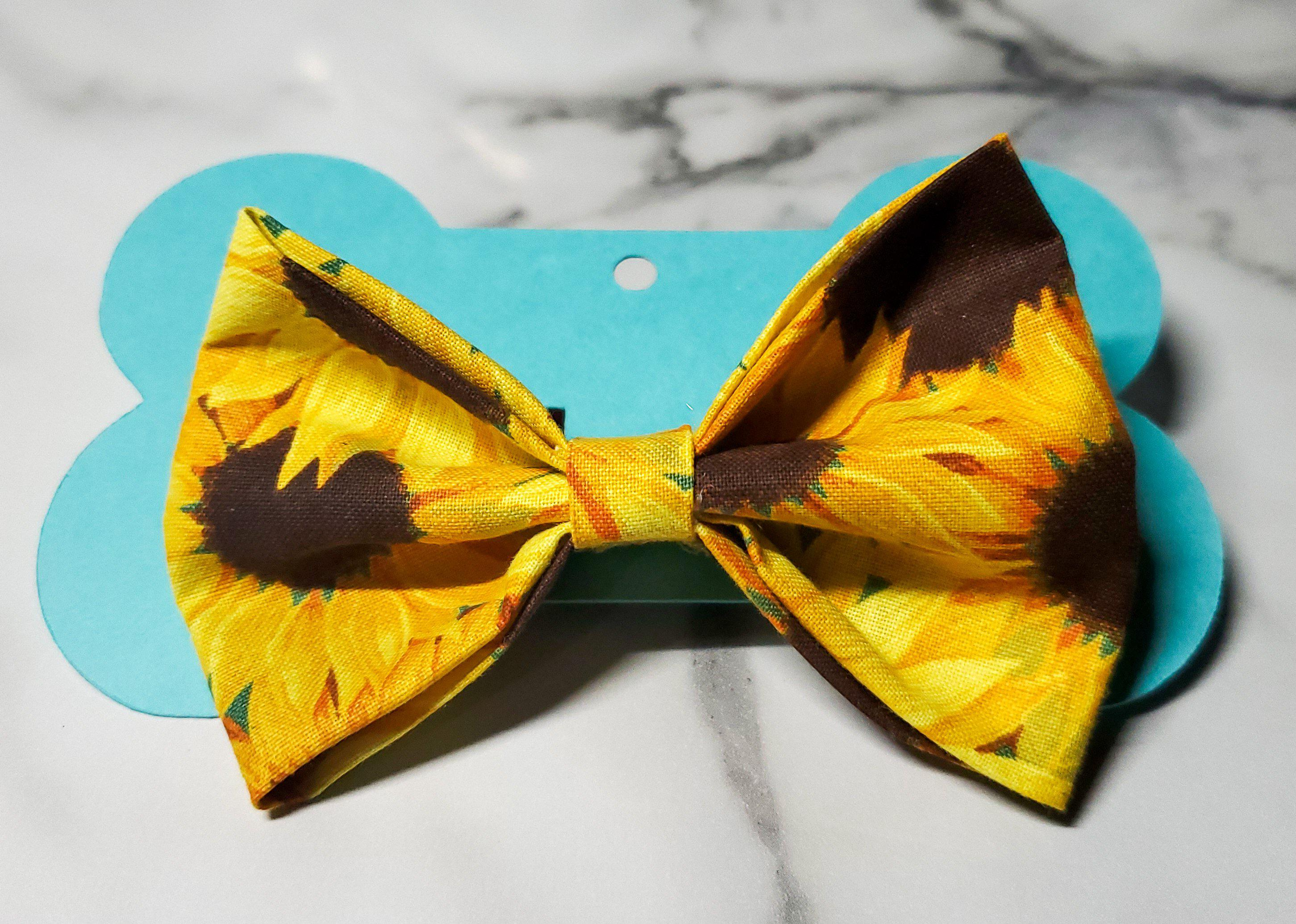 Sunflower Bowtie-Go Local Pets