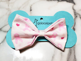 Breast Cancer Ribbon Bowtie - Go Local Pets