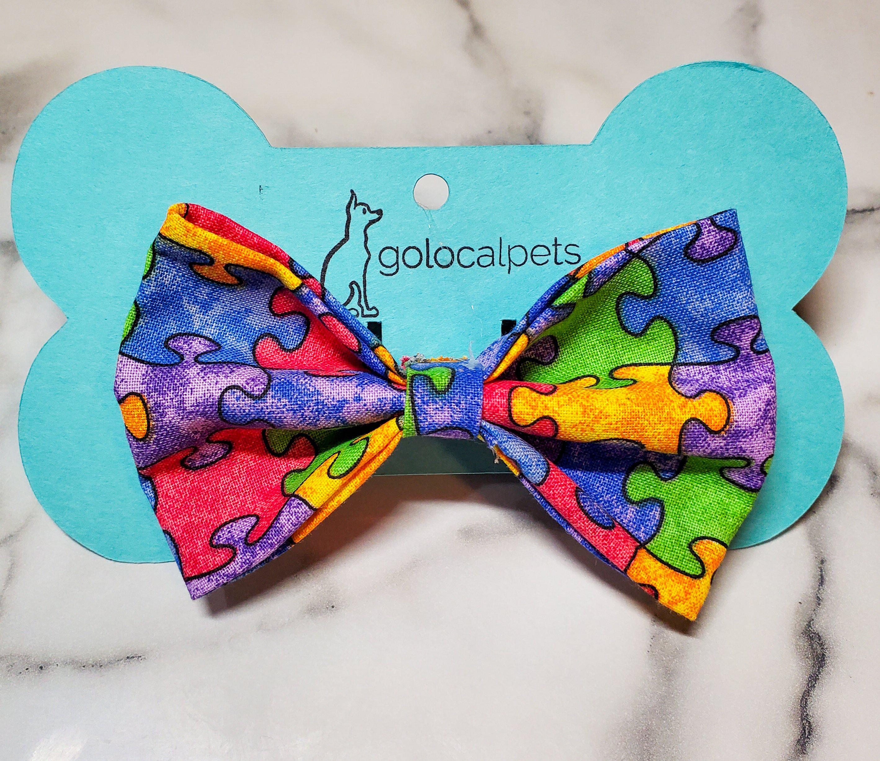 Support Autism Bowtie-Go Local Pets