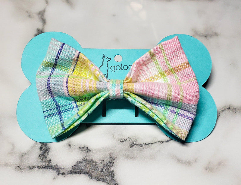 Easter Plaid Bowtie - Go Local Pets