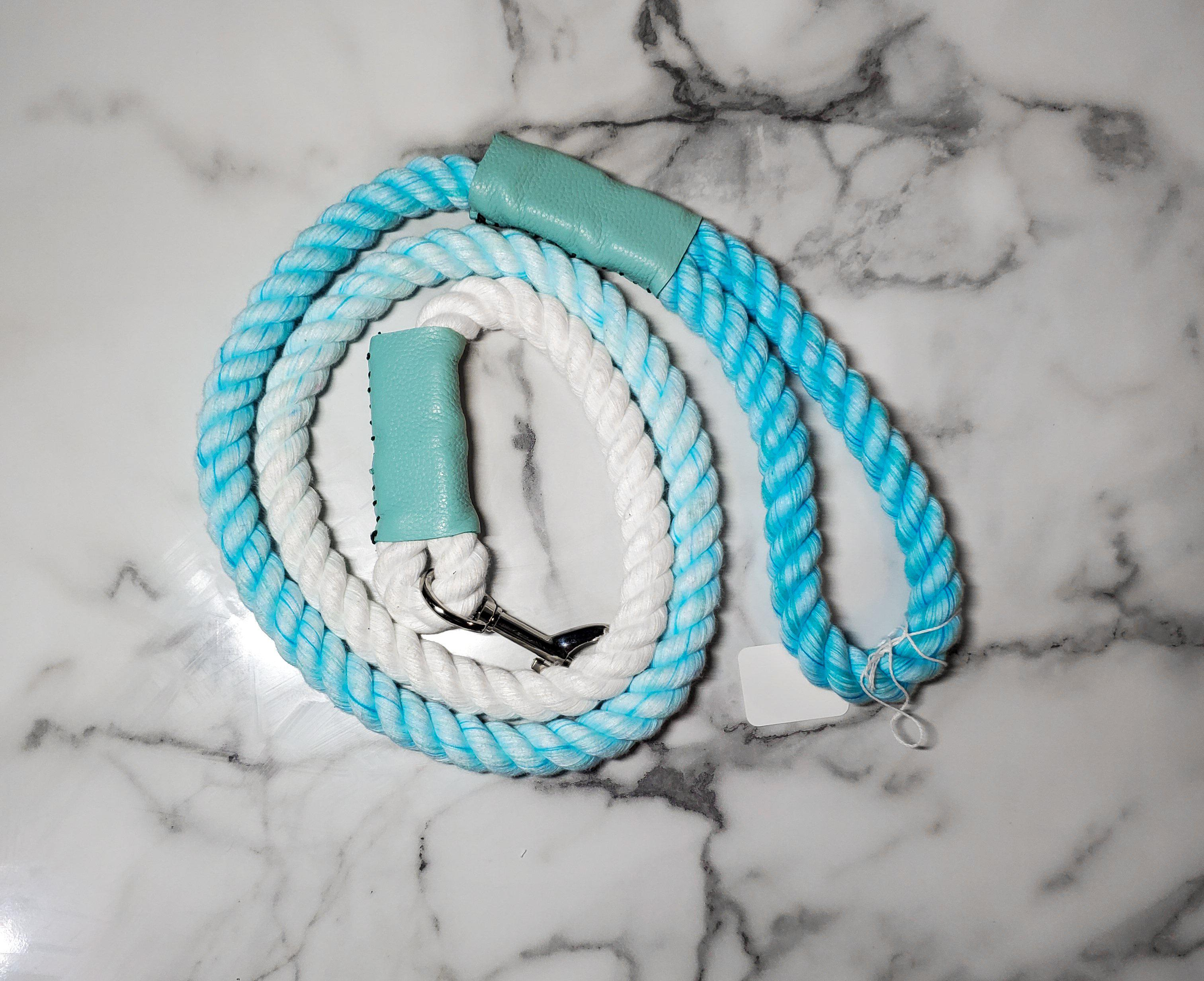 Aqua Ombre Rope Leash-Go Local Pets