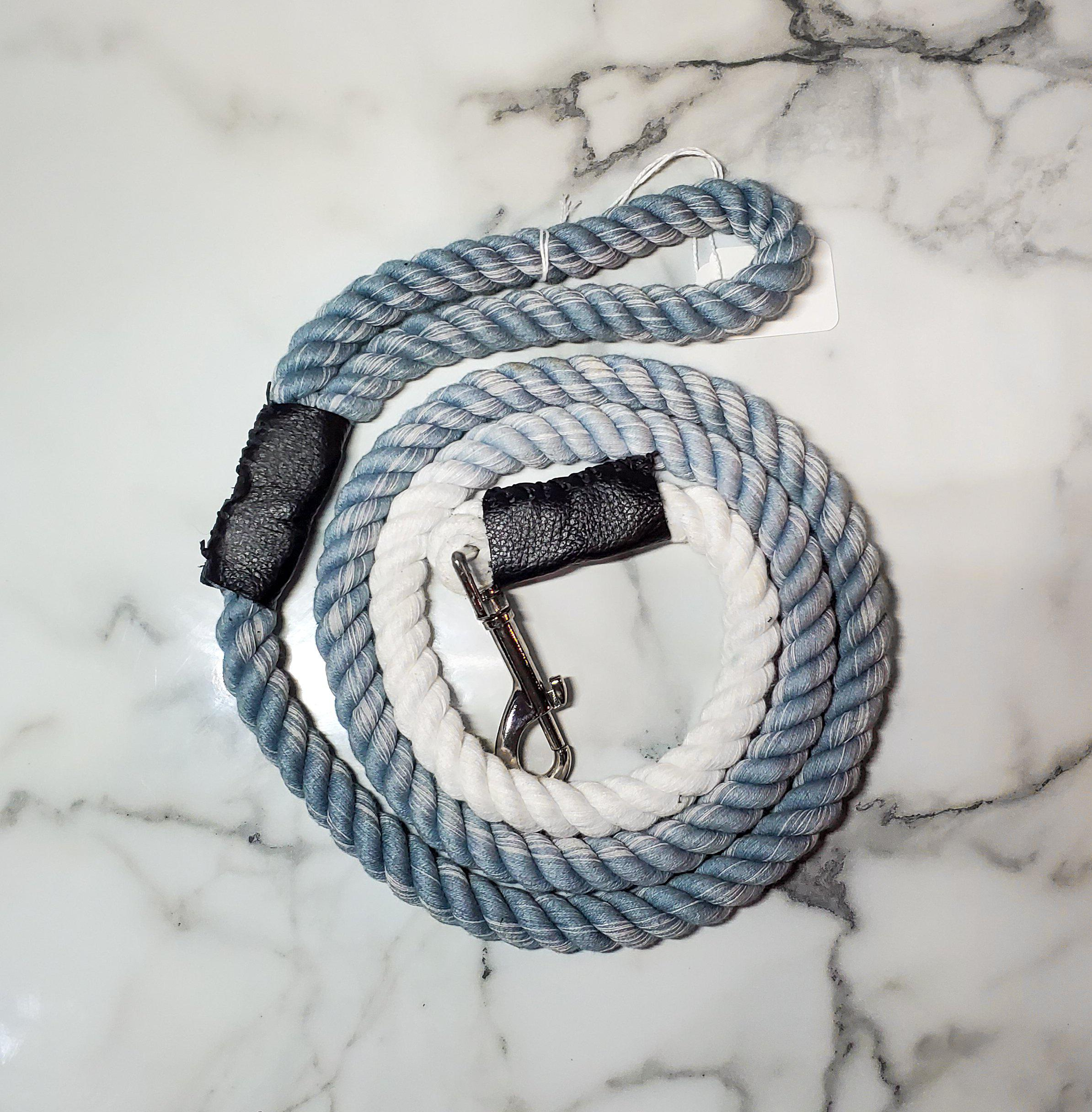 Gray Ombre Rope Leash-Go Local Pets