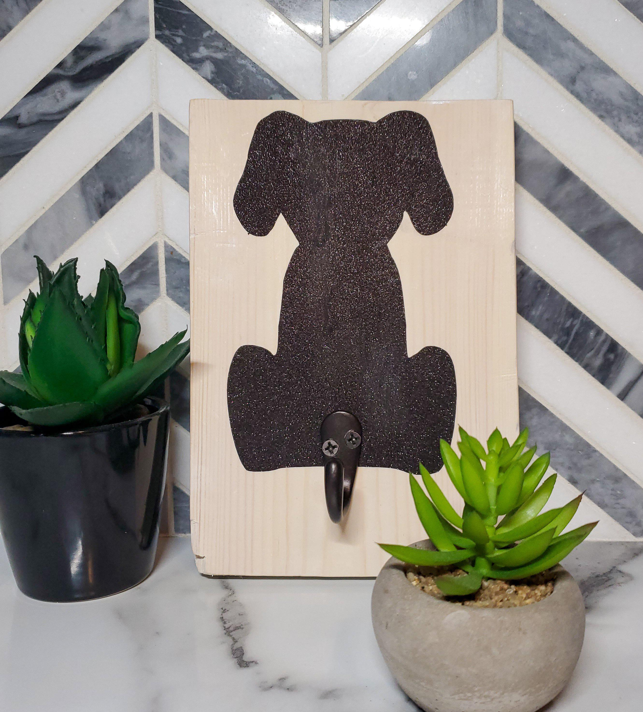 Black Glitter Dog Leash Hanger-Go Local Pets