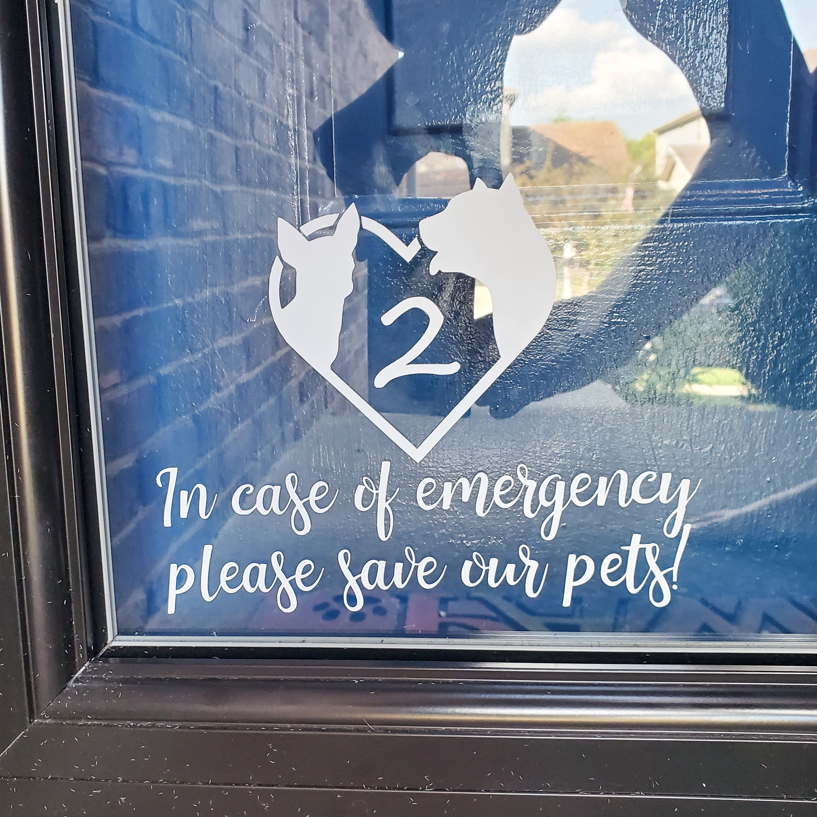 Custom Emergency Window Decal