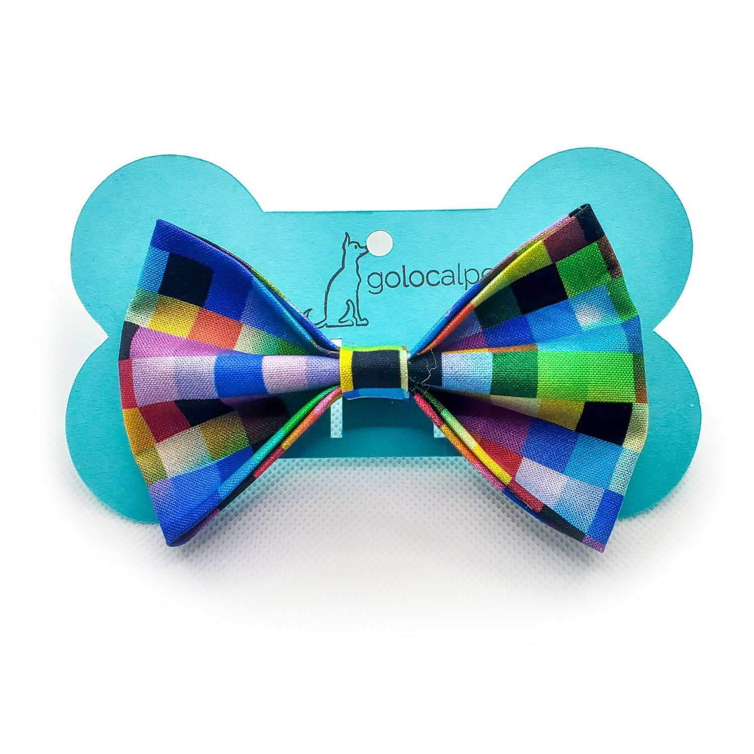 Multi-Colored Checkered Bow Tie