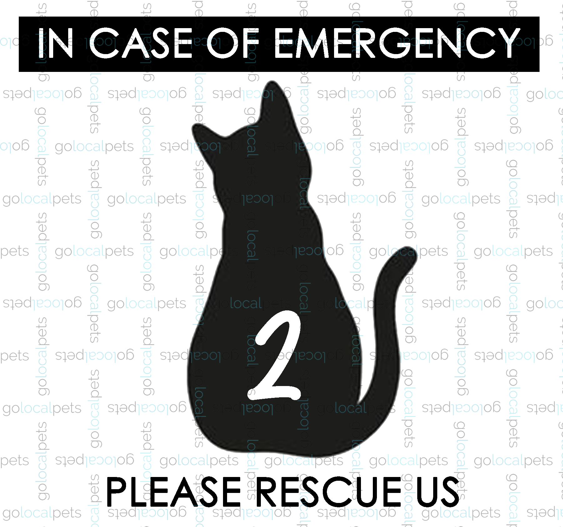 Emergency Window Decal - Cat