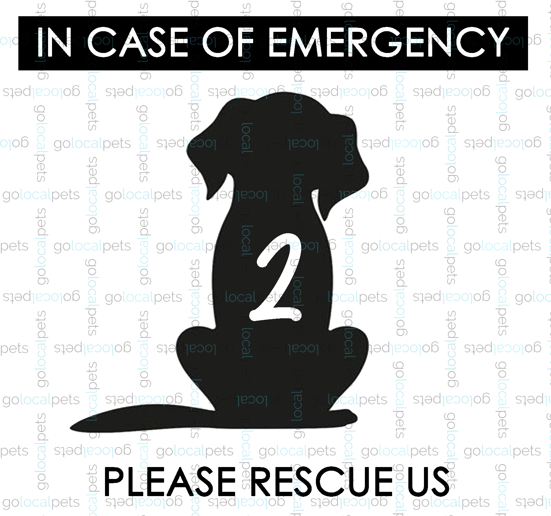 Emergency Window Decal - Dog
