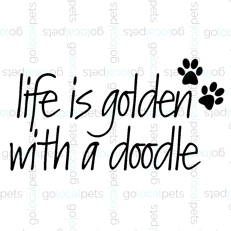 Life is Golden with a Doodle Sticker