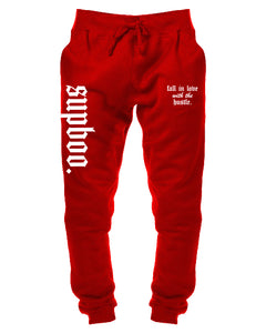 Love The Hustle Sweatpants - Cardinal Red