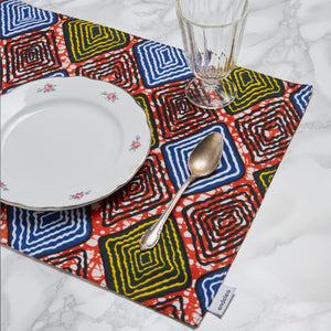 Double-Sided Place Mat Hip To Be Square