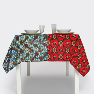 Two-Tone Tablecloth Key To Happiness