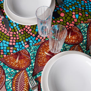 Two-Tone Tablecloth Candy Mosaic
