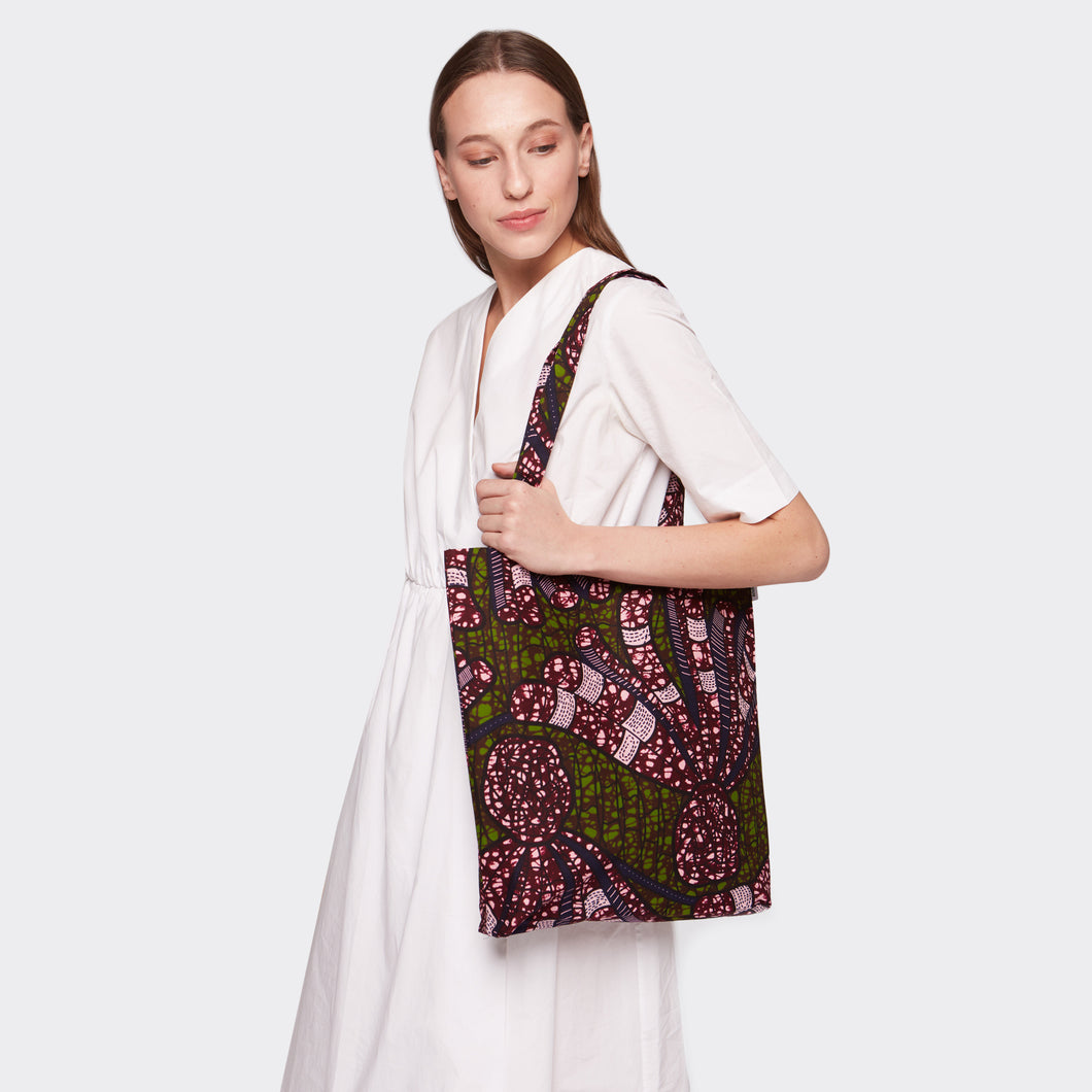 Tote bag Purple Flow