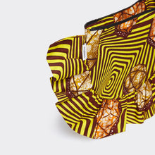 Load image into Gallery viewer, Ruffled Clutch Psychedelic Stones