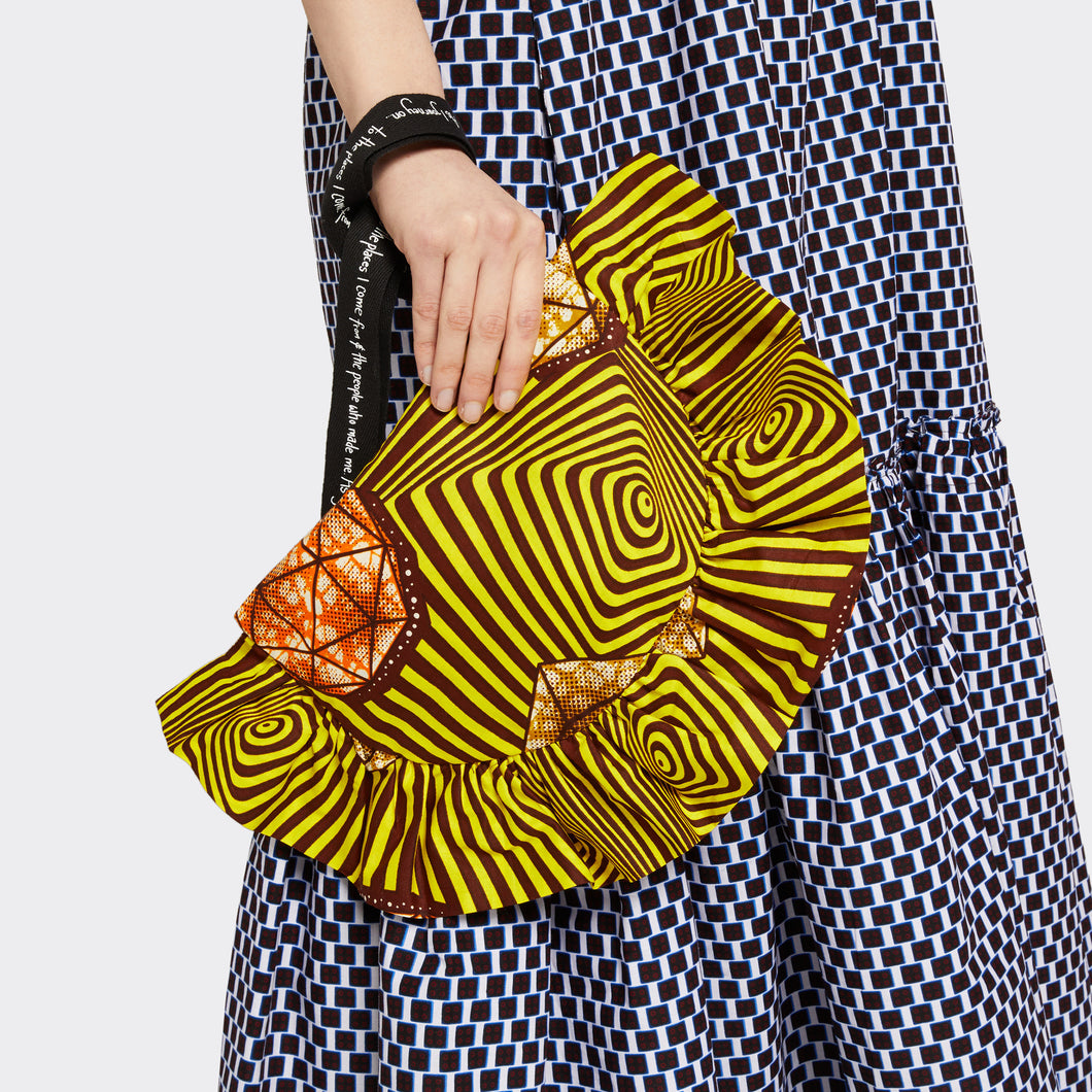 Ruffled Clutch Psychedelic Stones