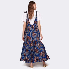 Load image into Gallery viewer, Flounced maxi dress Blue Romance