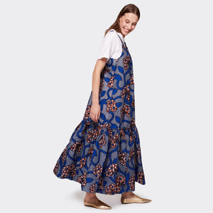 Flounced maxi dress Blue Romance