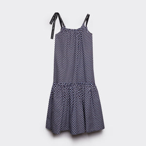 Flounced Maxi Dress Check Mate