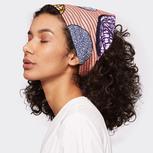 Samosa Headwrap Pink Abstraction