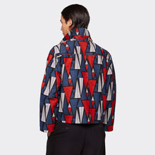 Load image into Gallery viewer, Buttoned jacket Triangles Forest
