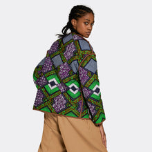 Load image into Gallery viewer, Reversible Quilted Jacket Neon Leaves