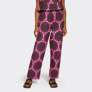 Elastic Waist Trousers Neon Berries