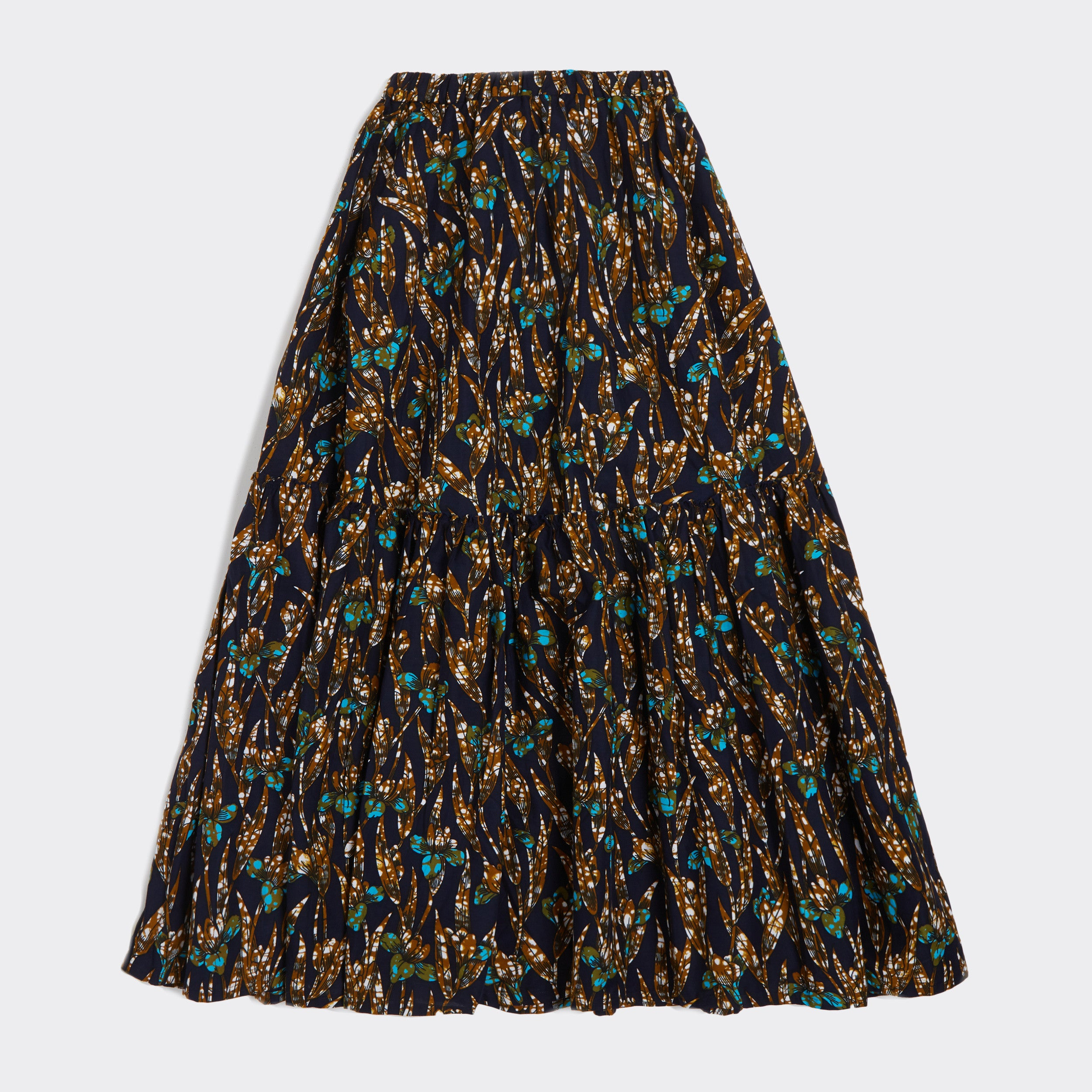 Flounced maxi skirt Iris Blonde