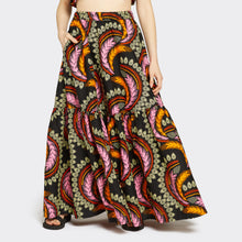 Load image into Gallery viewer, Flounced Maxi Skirt Fierce Feathers