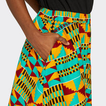 Load image into Gallery viewer, Flounced Maxi Skirt Kente Vibes
