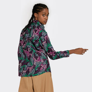 Regular Fit Shirt Neon Leaves