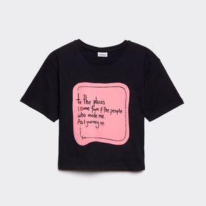 Journey On Cropped T-Shirt Black