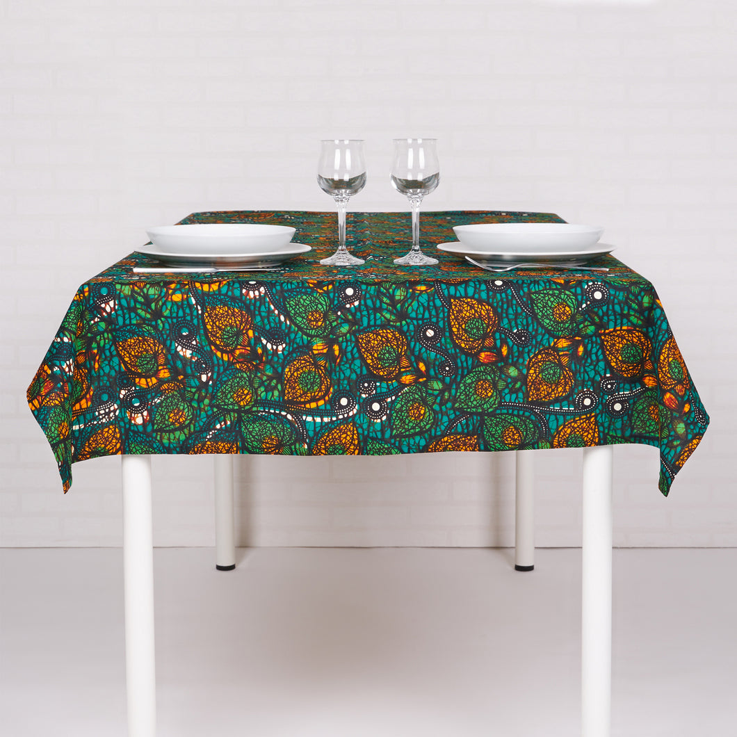 Tablecloth Green Blossom