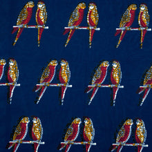 Load image into Gallery viewer, T-Shirt Mini Dress Blue Parrots