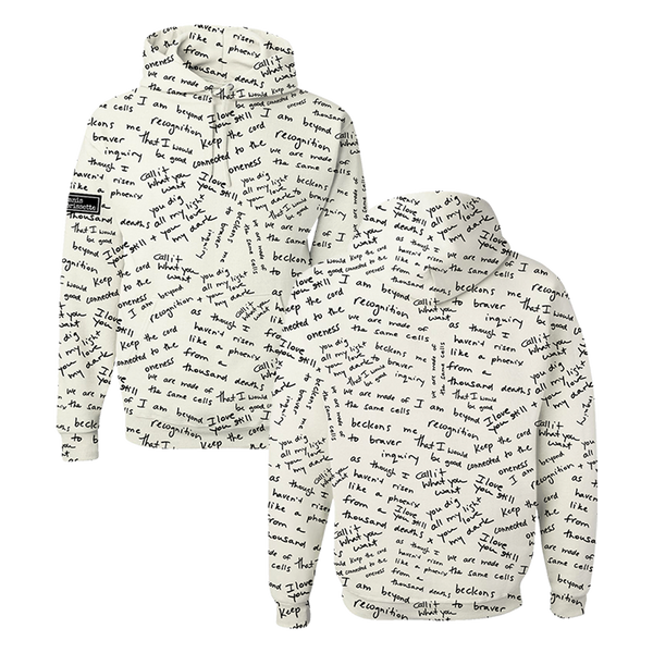 Custom Lyric Graffiti Hoodie (Pre Order- Limited)