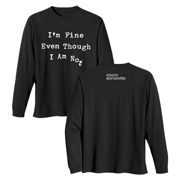 Not Fine Typewriter Longsleeve